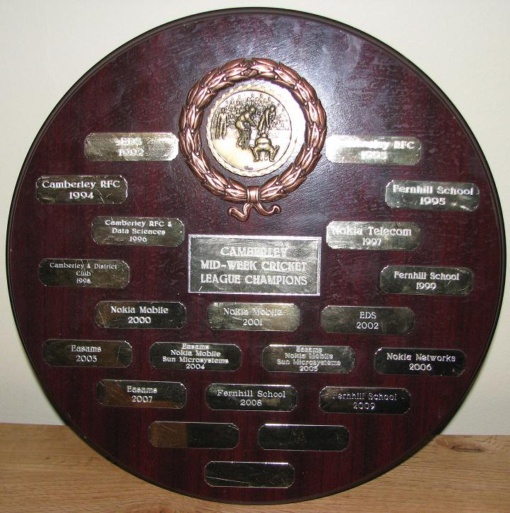 Camberley Midweek Cricket League Shield